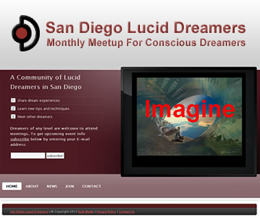 San Diego Lucid Dreamers Website Preview