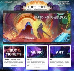 Lucidity Festival website screenshot