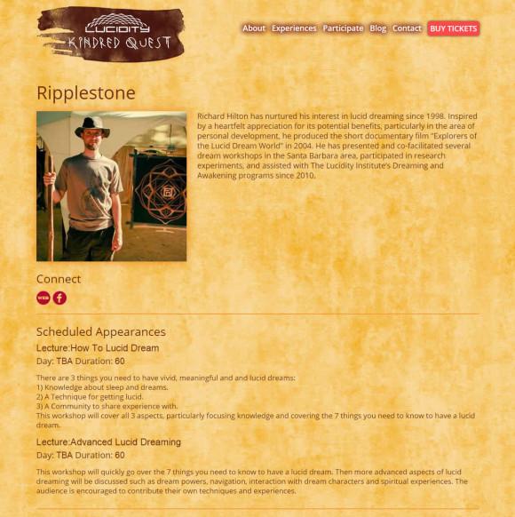 Screenshot for RipplestoneLucid Dream Workshops at Lucidity Festival 2015
